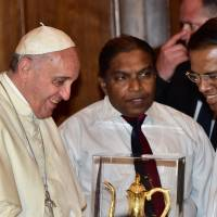 Pope backs search for wartime truth in Sri Lanka