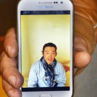 A Syrian man shows a video Kenji Goto recorded in October. The man's identity is not being revealed, but he has described at length the last contact he had with Goto, who is now an Islamic State hostage.  | KYODO