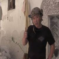 Private contractor Haruna Yukawa describes the devastation in Aleppo, northern Syria, in a video uploaded to YouTube on May 4, 2014. | HARUNA YUKAWA/YOUTUBE
