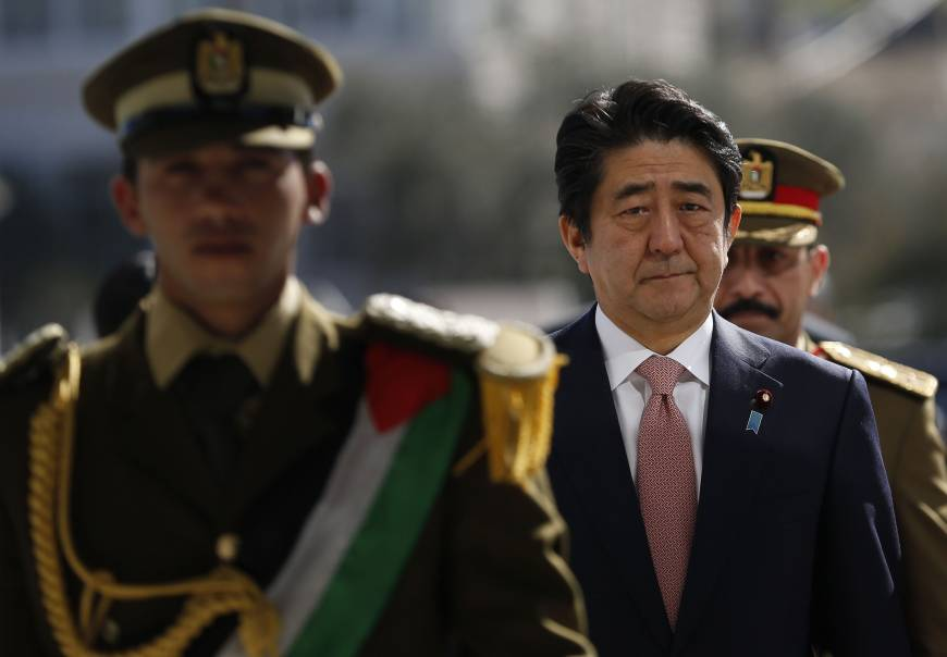 Abe forced to walk a fine line in oil-rich Middle East