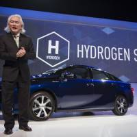 Theoretical physicist Michio Kaku describes a hydrogen future at the 2015 Consumer Electronics Show in Las Vegas. | BLOOMBERG