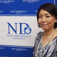 Blazing a trail: Sayo Saruta, director of the New Diplomacy Initiative think tank, aims to open new channels of communication between Japan and the U.S. | JON MITCHELL