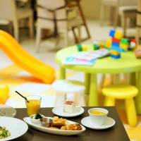 Under the dome: Meals are served near the play area at The Dome. | MAI HAYASHI