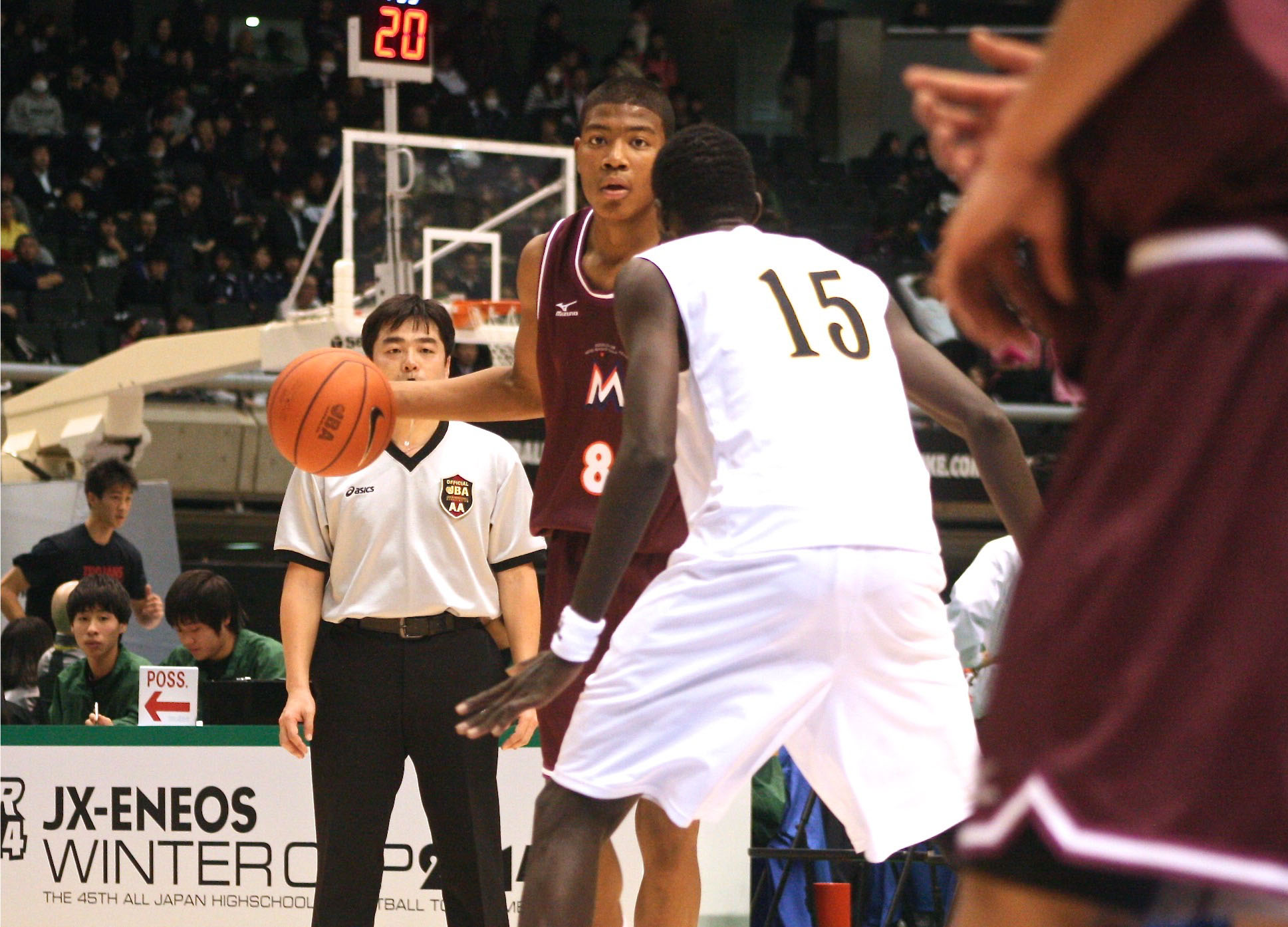 Hoop dreams: Rui Hachimura competes during the All-Japan Tournament in late December.   KAZ NAGATSUKA