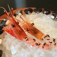 Jumbo shrimp with 'flavors of the Nagano forest' — otherwise known as ants —begin a series of courses at Noma Japan, which has taken up residence at the Mandarin Oriental hotel till Feb. 14. | ROBBIE SWINNERTON
