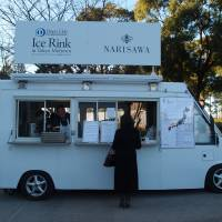 To go, please: Chef Yoshihiro Narisawa mans his food truck by Tokyo Midtown.