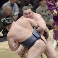 The king: Hakuho has more Emperor's Cups than any wrestler in the history of sumo. | KYODO