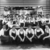 New in town: Chef Rene Redzepi and his staff gather for a group shot at the Mandarin Oriental in Tokyo. Annika de Las Heras/Noma
