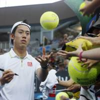 Nishikori makes short work of Johnson in Brisbane