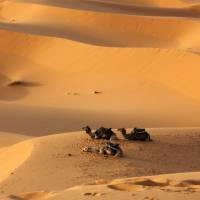 Erg Chebbi is located on the edge of the Saharan Desert. | AP