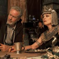 Epic production: Ridley Scott directs Sigourney Weaver in 'Exodus: Gods and Kings.' | ©2014 TWENTIETH CENTURY FOX FILM CORPORATION ALL RIGHTS RESERVED.