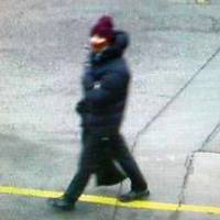 The suspect in a shooting at a freedom of speech event in Copenhagen is seen in a photo believed to have been taken on a street camera near where a getaway car was later found dumped Saturday. | AP