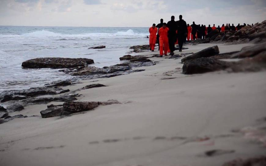 Islamic State posts video allegedly showing execution of Coptic Christian hostages in Libya