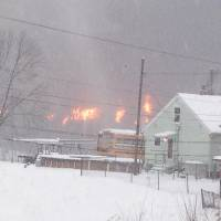 CSX oil train derails in West Virginia; at least two cars on fire; towns evacuated