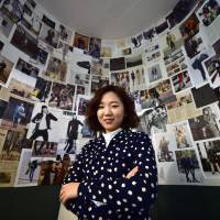 Yoon Ja-young is CEO of image-sharing app StyleShare, which targets fashion-conscious young women with a Pinterest-style product. Yoon poses for a photo at her office in Seoul on Feb. 5. | AFP-JIJI