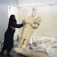 Statue-smashing video in Iraq sparks outrage, fears for U.N. heritage site