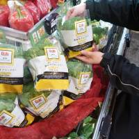 Dole Japan Inc.'s nutrition-enhanced 'functional' broccoli are displayed at a Tokyu Store in Nakameguro, Tokyo, in January. | KYODO