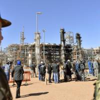 When 10 Japanese hostages were killed by Islamic extremists at a gas drilling complex in Ain Amenas, Algeria, in January 2013, the Algerian government took their bodies to the airport because the Self-Defense Forces were banned by law at the time from using land vehicles to transport Japanese in emergencies. | KYODO