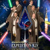 International Space Station crew don Jedi garb ahead of voyages