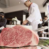 Where's the beef? Apparently, it is in Singapore, where the first exports of 'Kyoto Beef' were served to local diners earlier this month. Kyoto Prefecture, which was behind the event, hopes to make the produce as well-known overseas as Kobe beef. | COURTESY OF KYOTO PREFECTURE