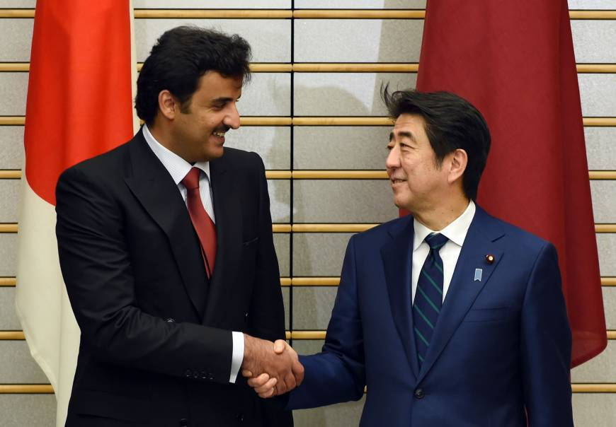 Japan, Qatar agree to strive for Middle East peace