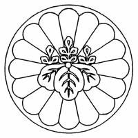 5. Patent attorneys (benrishi) get a badge with both a 16-petal chrysanthemum and a paulownia flower on. | JAPAN PATENT ATTORNEYS ASSOCIATION