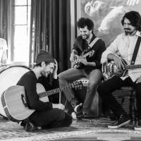 Time to jam: Dot Hacker includes (from left) Eric Gardner, Josh Klinghoffer, Clint Walsh and Jonathan Hischke. Klinghoffer has been busy with the band and in his role as guitarist for Red Hot Chili Peppers.