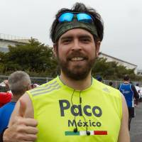 Francisco Morelos, Marketing, 35 (Mexican): I am planning to run all the major marathons, and Tokyo is one of them. Last year I did Chicago, so Tokyo is my second. It is amazing here, friendly people and a great course — a great run.