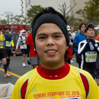 Sandy Santos, Staff nurse, 33 (Filipino): I joined the run today because I want to do the major marathons, and it is also something that makes me healthy. Also, it is close to my home in the Philippines even though now I live and work in Ireland.
