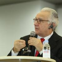 Star chef: Celebrated French chef Alain Ducasse, recently in Kyoto for the inaugural Washoku-do symposium, says many Japanese chefs in France 'don't have knowledge of their own cuisine.'