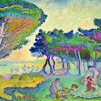 Neo-impressionism: color-coded familiarities