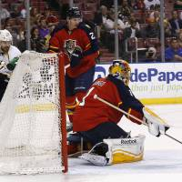 Team linchpin: Panthers goaltender Roberto Luongo is the backbone of the much-improved NHL team this season. | REUTERS/USA TODAY SPORTS