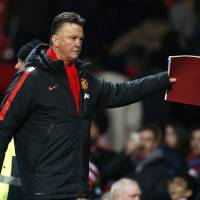 Speaks out: Manchester United coach Louis van Gaal says his team's tactics have produced results.  | REUTERS