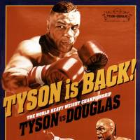 Throwback: The official poster from the Mike Tyson-Buster Douglas heavyweight title fight at Tokyo Dome on Feb. 11, 1990.