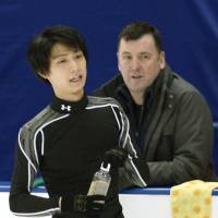 Terrific team: Olympic and world champion Yuzuru Hanyu and coach Brian Orser combine elite talent with years of experience at the highest level of the sport. | KYODO