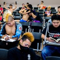 Student wrestlers learn the ropes ahead of university 'battle royale'