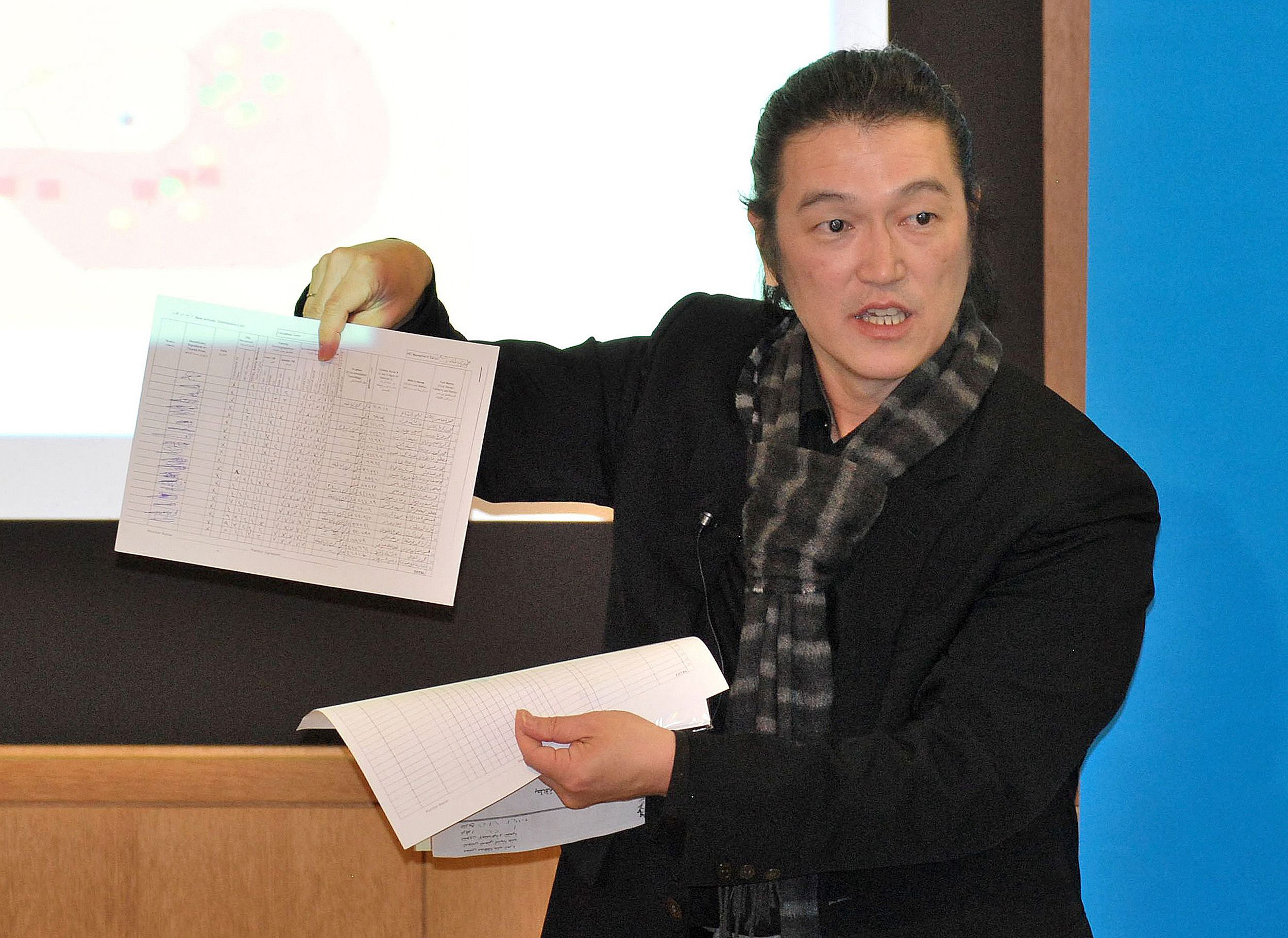 Taking risks: Journalist Kenji Goto sought to teach Japanese about suffering in other parts of the world. | AFP-JIJI