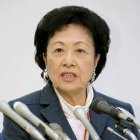 Hot water: Columnist Ayako Sono suggested in a recent edition of the Sankei Shimbun that immigrants to Japan be segregated by race. There's nothing to indicate that stirring controversy is stemming publications' sales decline.   KYODO