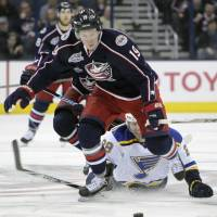 Blue Jackets crush Blues in seven-goal onslaught