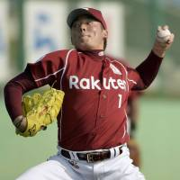 On the rise: Yuki Matsui had an up-and-down first season in NPB with the Eagles. | KYODO