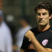 Need a little time: Michael Laudrup has been told by his club, Lekhwiya, that he will remain locked in his contract until the end of June.   AFP-JIJI
