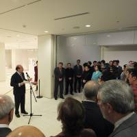 Spanish Ambassador Gonzalo de Benito Secades speaks at the opening ceremony on Feb. 16. | EMBASSY OF SPAIN