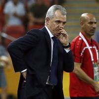 Short stint: Javier Aguirre (left), who took over as Japan national team manager after the World Cup, was dismissed on Monday due to his alleged involvement in a match-fixing scandal in Spain. | REUTERS