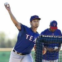 Darvish satisfied with first pitching session since August