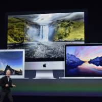 Tim Cook, chief executive officer of Apple Inc., speaks during the Apple Inc. Spring Forward event in San Francisco on Monday. Cook returns to the spotlight to answer questions on many of the Apple Watch's key selling points, including price range, battery life and when in April it will reach stores. | BLOOMBERG