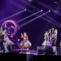 Shout it out: Idol group Momoiro Clover Z joined iconic rockers Kiss for a performance at Tokyo Dome on March 3. | © KAMIIISAKA HAJIME