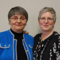 Susan Waters (left) and Sally Waters pose for a photo in Kearney, Nebraska, on Feb. 24. The pair, one of seven same-sex couples who had sued to block Nebraska's ban on gay marriage, are touring Nebraska to discuss their pending case and legislative efforts regarding equal rights for gay and transgender people in Nebraska. A U.S. judge ruled Monday that the state's ban on gay marriage is unconstitutional. | AP