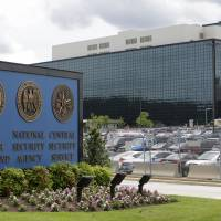 The National Security Administration campus in Fort Meade, Maryland, is seen in 2013.  The American Civil Liberties Union, Wikimedia and other groups are suing the NSA over its surveillance practices. The lawsuit says the agency violates the free speech and privacy rights of Americans by tapping into the U.S. internet backbone to monitor online communications. | AP