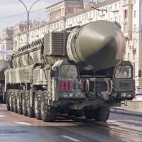 A Topol-M nuclear missile launcher drives through Moscow during the May 9, 2010, Victory Day commemorations. | ISTOCK