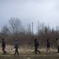 Migrants flock to EU door at Hungary's border